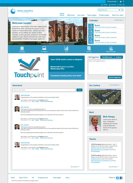 Town & County Housing Homepage