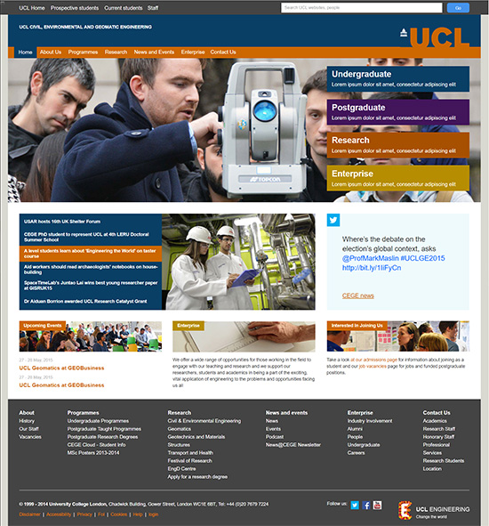 Redesign UCL Civil Engineering Website